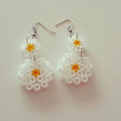 Earrings hama beads by turtiandbeads More