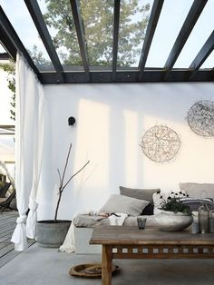 metal and glass pergola for roof