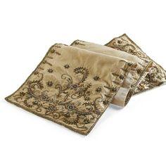 Gilded Embellished Table Runner
