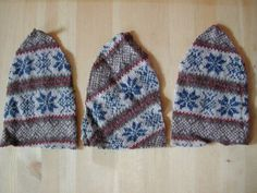make hats or mittens from old sweaters