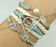 silvery harry potter bracelet wings bracelet two by Goodlife188, $5.59