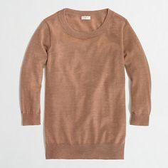 Factory merino Charley sweater - J.Crew Factory - Marled Camel or Maraschino Cherry, Size Small