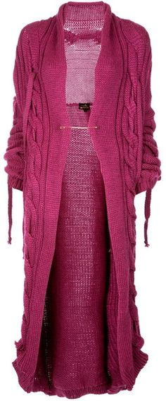 Vivienne Westwood Anglomania Purple Chunky Knit Cardigan | The House of Beccaria~