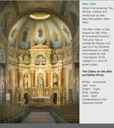 Shrine of St. Joseph | St. Louis, MO | Main Altar. Don't have time to visit this shrine on this visit.