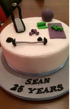Gym floor cake
