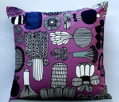 Hand Made Pillow From Marimekko Fabric 16 x  16 by PantsandPillows