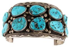 Turquoise Nugget Cuff by Ruby + George on @One Kings Lane