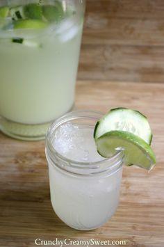 Cucumber Limeade from CrunchyCreamySweet.com