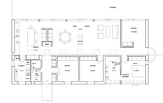 Shed House Plans, House Floor Plans, Long House, Villa, Shed Homes, Architecture Plan, Cool House Designs, My Dream Home, Exterior Design