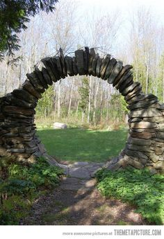 A Moon Gate - Karl found this image on the internet, and liked it enough to include on his FB page - funny kid.  Have to say, it might be fun to build one in the perennial bed. Submitted for your musings by Beth Waldon.