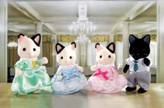 """Calico Critters - Tuxedo Cat Family - International Playthings - Toys""""R""""Us Kids Store, Toy Store, Calico Critters Families, Dolls House Figures, Doll Houses, Rainbow Resource, Victorian Dolls, Play Tennis, Toys R Us"""