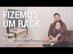 COMO FAZER UM RACK DE TV DE MADEIRA PINUS   DIY - YouTube