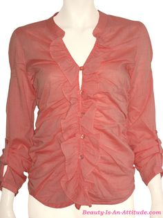 DEPT Voile Blouse Lobster