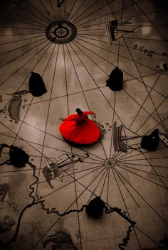 A red whirling dervish