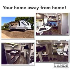 The 2445 Lance Travel Trailer is ready for an adventure. Get ready for your home away from home and bowse our floor plans here! Astuces Camping-car, Lance Campers, Truck Camper, Travel Trailers, Home And Away, Vacations, Floor Plans, Trucks, Adventure