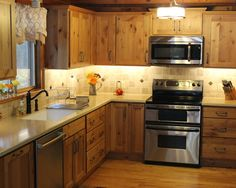 Fabulous Craftsman Kitchen With Pine Kitchen Cabinets Also Classic Faucet  Also Stainless Cooker And Modern