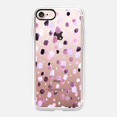 Watercolor dot purple by imushstore - Classic Grip Case