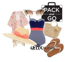 """""""greek islands"""" by bilmari ❤ liked on Polyvore featuring Gucci, American Eagle Outfitters, Melissa McCarthy Seven7, Hat Attack, Lanvin, Packandgo, greekislands and plus size clothing"""