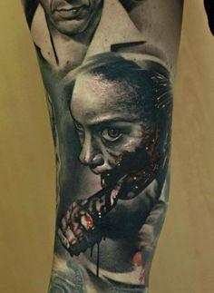 Mädchen Tattoo, Clown Tattoo, Demon Tattoo, Dark Tattoo, Samurai Tattoo, Evil Tattoos, Creepy Tattoos, Badass Tattoos, Unique Tattoo Designs