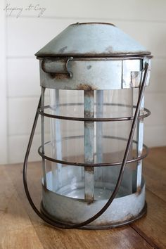 Keeping It Cozy: The Planning Stages Nautical Lanterns, Rustic Lanterns, Lanterns Decor, Rustic Cottage, Rustic Farmhouse, Cottage Style, Painted Cottage, Cottage Furniture, House By The Sea