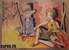 Sabo, Ace, Luffy...( Fan Art de One Piece)