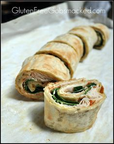 Gluten Free Sandwich Wrap - Take 3 - a new whole grain version - a mock lavash bread - Gluten Free Gobsmacked can also be used as a thin crust for pizza Gluten Free Kitchen, Gluten Free Cooking, Gluten Free Recipes, Quick Recipes, Keto Recipes, Healthy Recipes, Easy Appetizer Recipes, Wrap Recipes, Appetizer Plates