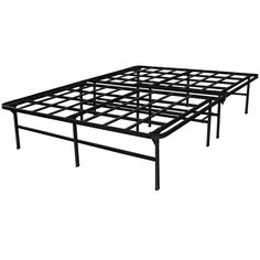 queen size heavy duty metal platform bed frame supports up to 4400 lbs