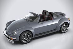 Memminger Roadster Is A Modern Take On The Classic VW Beetle. This custom VW Beetle-inspired beauty could even go into production if there's enough demand. Porsche 914, Combi T2, Vw Cabrio, Automobile, Beetle Convertible, Roadster, Ferdinand Porsche, Car Mods, Buggy