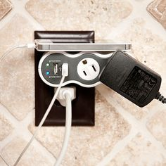 These smart outlets rotate 360° to accomodate plugs of different sizes and shapes. No more overcrowding of the power bar.