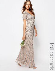 Image 1 ofMaya Tall Sequin All Over Maxi Dress