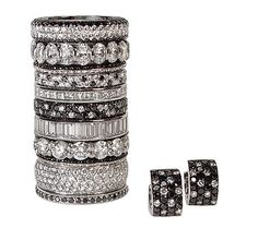 Diamond Cut Down Micro Pave Set Platinum Curved Wedding Band Picture ...