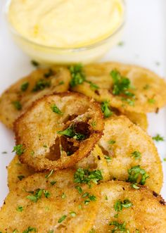fried lemon slices with aioli! Oooooooooooo.....different! But yummy sounding! Must try.