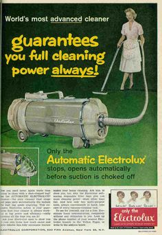 June, 1960 Electrolux ad