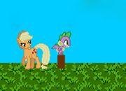 Applejack Kick Spike