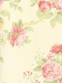 Wallpaper  pattern CG28816. Keywords describing this pattern are roses, textured look.  Colors in this pattern are Beige, Pink, Red, Yellow Green.  Alternate color patterns are CG28815;Page:37.  Coordinating patterns are CG28818;Page:35;CG28857;Page:36. Product Details:  prepasted  peelable  washable  pretrimmed  Material is Vinyl. Product Information:  Book name: Rose Garden Pattern #: CG28816 Repeat Length: 21 0 inches.  Pattern Length: 16 1/2 inches.  Pattern Length: 20 1/2 inches.