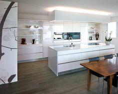 Küchenblock, Küchen, Gestaltung im Küchenbereich, 3D Küchenplanung, weisser Küchenblock, Küche in weiss
