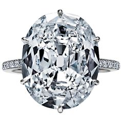 Exceptional Oval Cushion Cut Diamond 8.70ct Engagement Ring