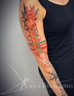 Justin Nordine giraffe tattoo