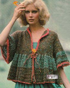 Vintage Crochet Pattern Lacy Smock Victorian Combing by Moongemini