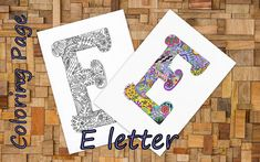 Letter ''E'' Download Coloring Page Hand Drawn Zentangle Inspired The Alphabet Adult Coloring Page Art Relaxing Activity For Family