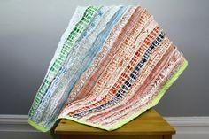 Colcha de patchwork deshilachada
