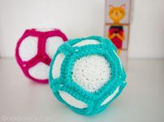 Crochet Rattle Ball