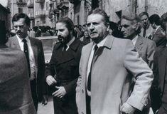 Da sx Ninni Cassarà, Giovanni Falcone e Rocco Chinnici