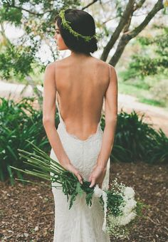 Beautiful backless gown