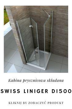 Mała łazienka już nie przeszkodzi Ci w stworzeniu wygodnej i stylowej przestrzeni prysznicowej. Wybierając kabinę D1500 o składanych drzwiach zaoszczędzisz miejsce, nie rezygnując z komfortu przestronnnego prysznica. Kliknij zdjęcie aby przejść do produktu.  #domarket #swissliniger #nowoczesnalazienka #wyposazenielazienki #lazienkamarzen #lazienkoweinspiracje #kabinaprysznicowa #kabiny #bathroom #modernbathroom #bathroomdesign #bathroominspiration #interiordesign #bathroomshower… Refrigerators, Divider, Flooring, Bathroom, Interior, House, Furniture, Design, Home Decor