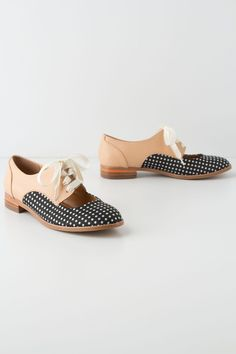 Olivia Cutout Oxfords - Anthropologie.com I wish these were black not navy & not imported.... I'm loving them.