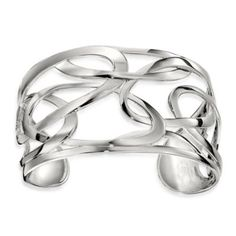 ELLE Jewelry Whimsy Sterling Silver 7-Inch Cuff Bracelet - BedBathandBeyond.com
