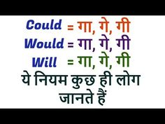 Would, Will and Could का नियम - Learn Basic English Grammar through Hindi - YouTube