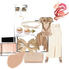 """Tonight I wear PEACH..."" by audrey-prater on Polyvore"
