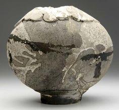 Paul Soldner | Raku-fired spherical footed vessel  c. 1965 - 72